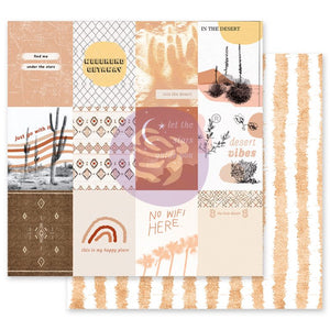 Prima Marketing - Golden Desert - Just Go With It -12x12 Cardstock