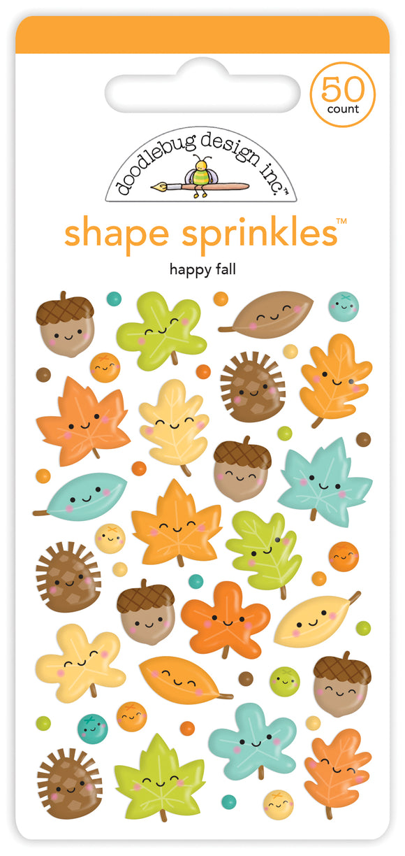 Doodlebug Designs Pumpkin Spice - Happy Fall Shape Sprinkles