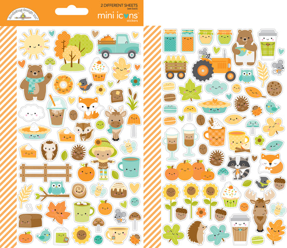 Doodlebug Designs Pumpkin Spice - Mini Icons Stickers