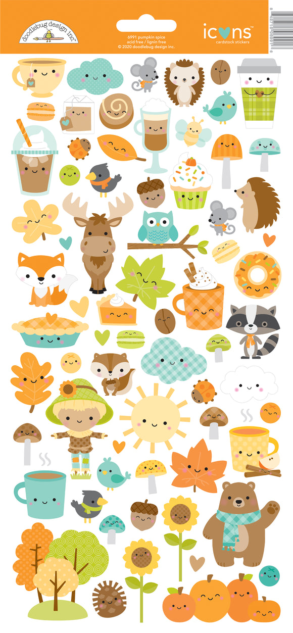 Doodlebug Designs Pumpkin Spice - Icons Sticker
