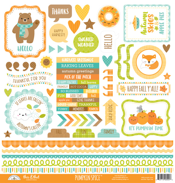 Doodlebug Designs Pumpkin Spice - This & That Sticker - 12x12