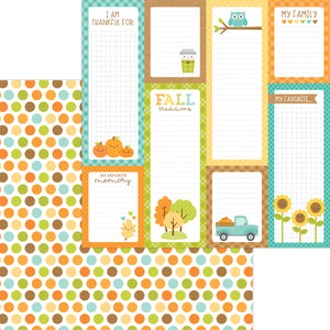 Doodlebug Pumpkin Spice - Harvest Berries Double Cardstock 12x12