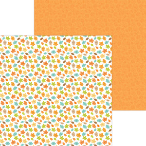 Doodlebug Pumpkin Spice - Happy Fall Double-Sided Cardstock 12x12