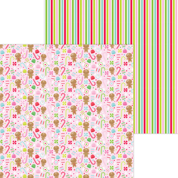 Doodlebug Night Before Christmas - Dancing Sugarplums Double-Sided Cardstock 12x12