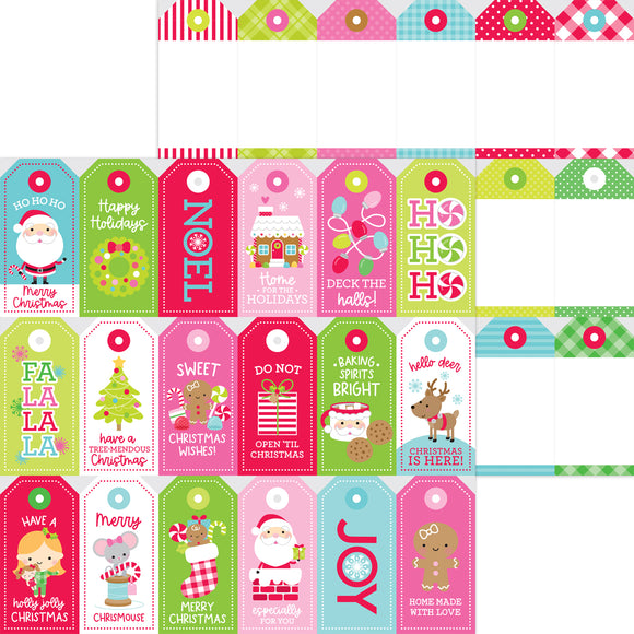 Doodlebug Night Before Christmas - Gift Tags Double-Sided Cardstock 12x12
