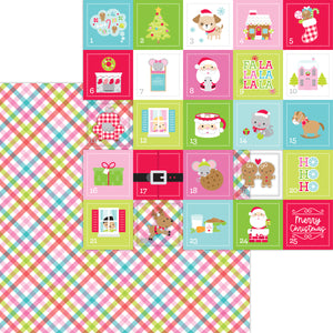 Doodlebug Night Before Christmas - Cozy Quilt Double-Sided Cardstock 12x12