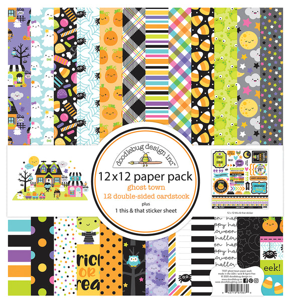 Doodlebug Ghost Town - Collection Paper Pack