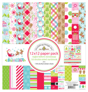 Doodlebug Night Before Christmas - Collection Paper Pack