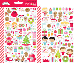 Doodlebug Night Before Christmas - Mini Icons Stickers