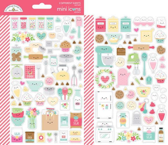 Doodlebug Made with Love - Mini Icons Stickers