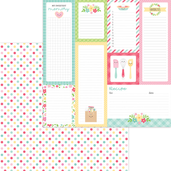 Doodlebug Made with Love - Sugar Sprinkles 12x12 Double-Sided Cardstock