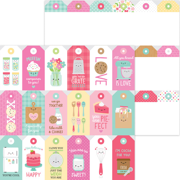 Doodlebug Made with Love - Treat Tags 12x12 Double-Sided Cardstock