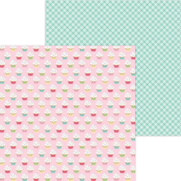 Doodlebug Made with Love - Cupcake Cuties 12x12 Double-Sided Cardstock
