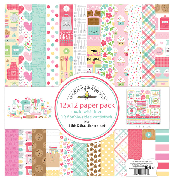 Doodlebug Made with Love - 12x12 Collection Paper Pack