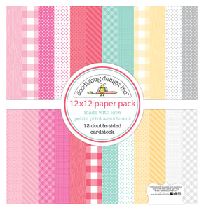 Doodlebug Made with Love - 12x12 Petite Print Assortment