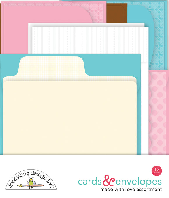 Doodlebug Made with Love - Assortment Cards & Envelopes