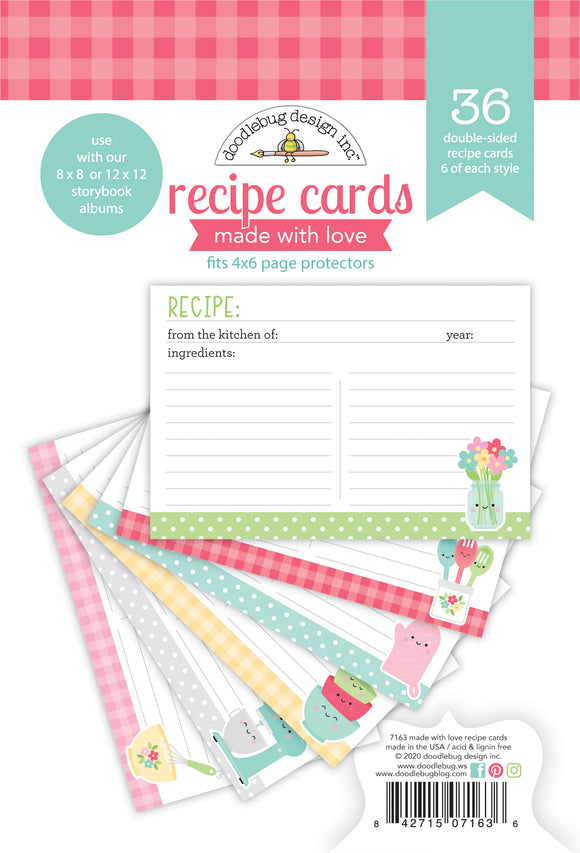 Doodlebug Made with Love - Recipe Cards