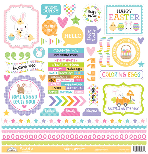 Doodlebug Design Hippity Hoppity - This & That Sticker - 12x12