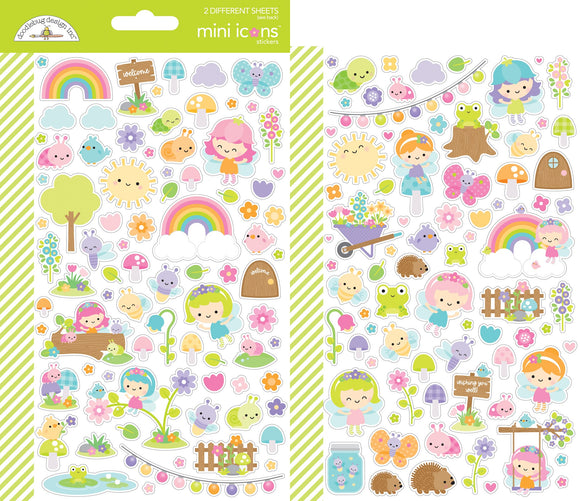 Doodlebug Design Fairy Garden - Mini Icons Stickers