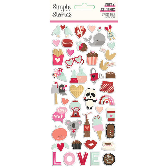 Simple Stories - Sweet Talk Puffy Sticker