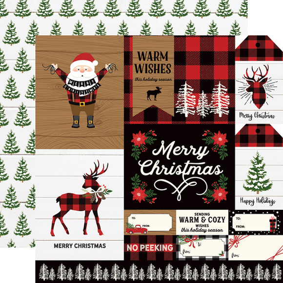 Echo Park- A Lumberjack Christmas - Multi Journaling Cards  - 12x12 Cardstock