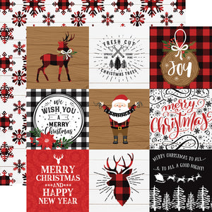 Echo Park- A Lumberjack Christmas - 4x4 Journaling Cards - 12x12 Cardstock