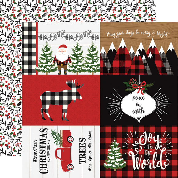 Echo Park- A Lumberjack Christmas - 4x6 Journaling Cards - 12x12 Cardstock
