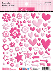 Bella Blvd - Trinkets Puffy Stickers - 10 Colors Available