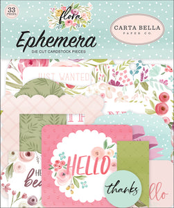 Carta Bella Flora No.3 - Ephemera Die-cuts