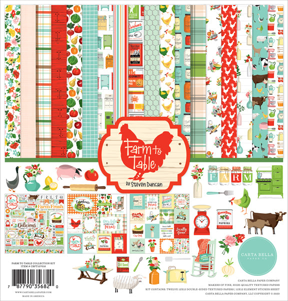 Carta Bella - Farm to Table Collection Kit