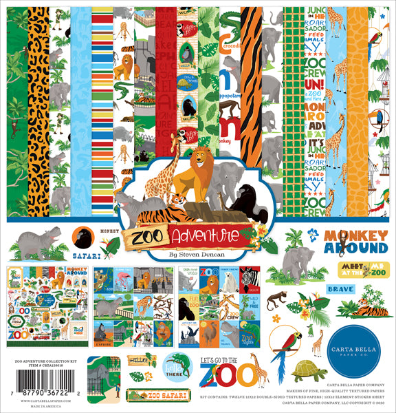 Carta Bella - Zoo Adventures Collection Kit