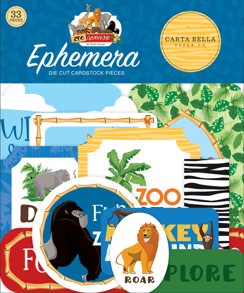 Carta Bella - Zoo Adventures Ephemera