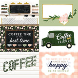 Echo Park Coffee & Friends - 6x4 Journaling Cards 12x12 Cardstock