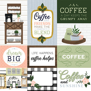 Echo Park Coffee & Friends - Journaling Cards 12x12 Cardstock