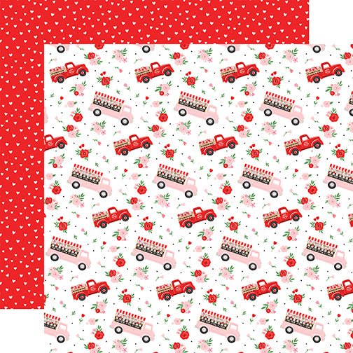 Echo Park Cupid & Co. - Flower Trucks 12x12 Cardstock