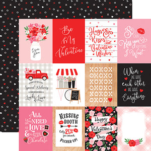 Echo Park Cupid & Co. - 3x4 Journaling Cards 12x12 Cardstock
