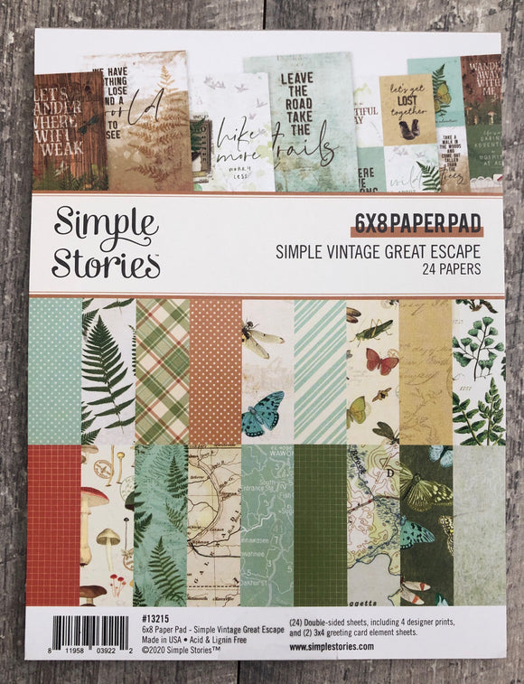 *SALE* Simple Stories - Simple Vintage Great Escape 6x8 Pad