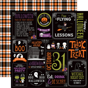 Echo Park - I Love Halloween - Halloween Party 12x12 Cardstock