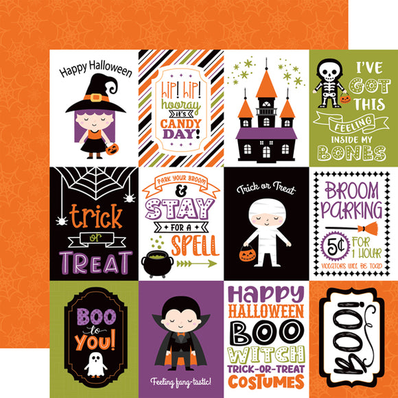 Echo Park - I Love Halloween - 3x4 Journaling Cards -12x12 Cardstock
