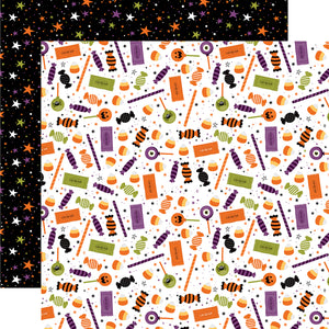 Echo Park - I Love Halloween - Candy Crash -12x12 Cardstock