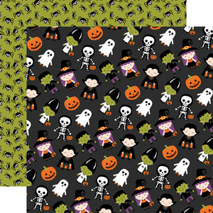Echo Park - I Love Halloween - Trick or Treat -12x12 Cardstock
