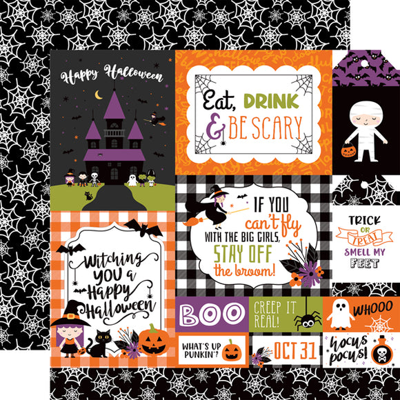 Echo Park - I Love Halloween - Multi-Journaling -12x12 Cardstock
