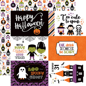 Echo Park - I Love Halloween - 6x4 Journaling Cards - 12x12 Cardstock