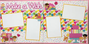 Make a Wish - Girl Layout Kit