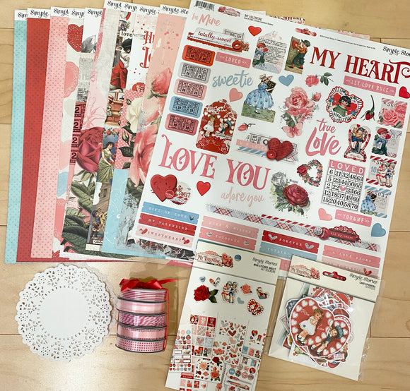 *SALE* Simple Stories - My Valentine with 5 Ribbon Rolls