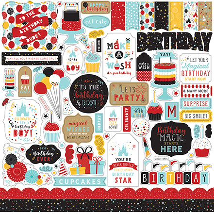 Echo Park - Magical Birthday Boy 12x12 Element Sticker