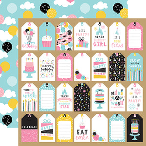 Echo Park Magical Birthday Girl - Gift Tags 12x12 Cardstock