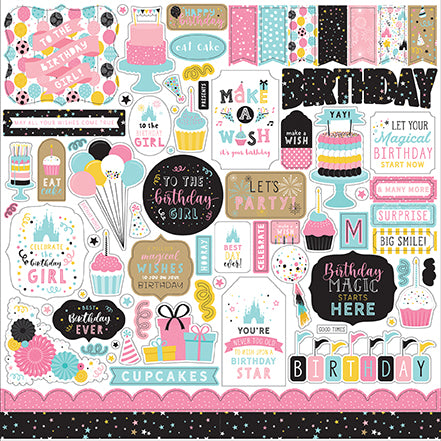 Echo Park - Magical Birthday Girl 12x12 Element Sticker