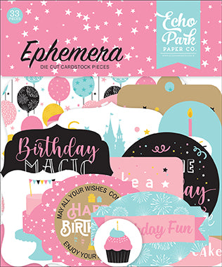 Echo Park - Magical Birthday Girl Ephemera