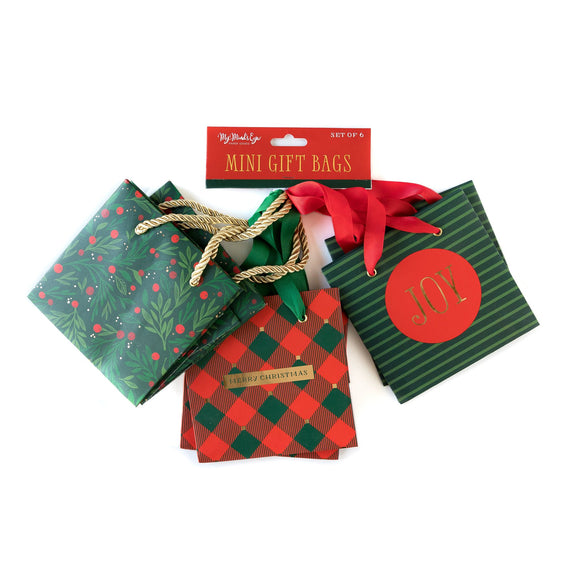 *SALE* My Mind's Eye - Mini Gift Bags - Red & Green